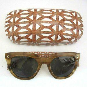 Stella and Dot Miramar Blond Sunglasses + Case EUC